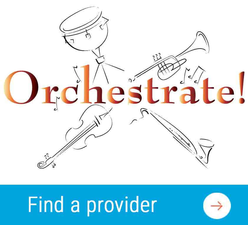 orchestrate team building provider